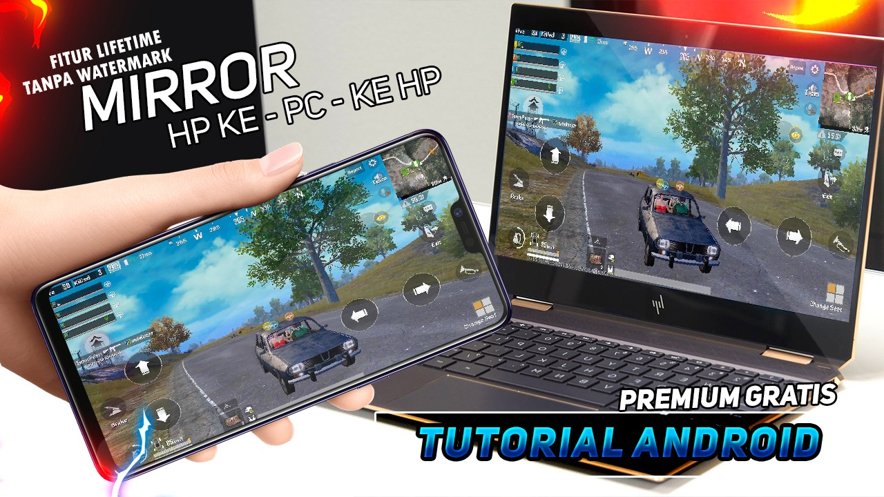 Photo of Cara Mirroring Layar HP ke PC Tanpa Watermark / PREMIUM