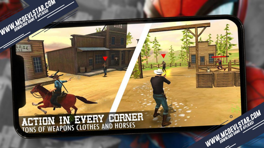 Berburu semua boronan di game Guns and Spurs 2 ( Mod )