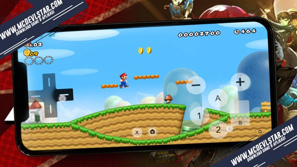 Gameplay awal New Super Mario Bros. ( WII ) pada android