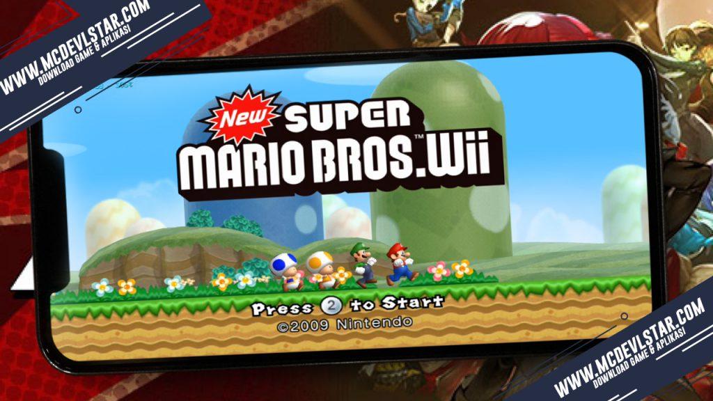 Main menu dari New Super Mario Bros. ( WII ) pada android